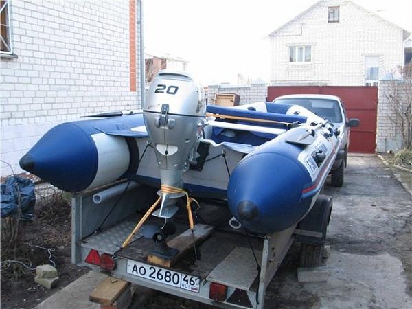 Мотор на лодке ПВХ