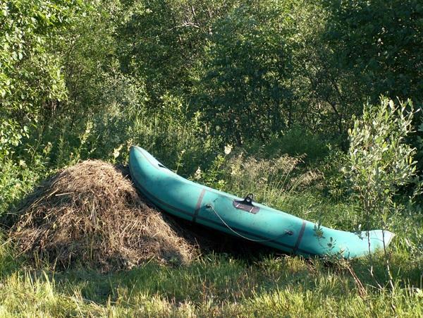 Просушка лодки