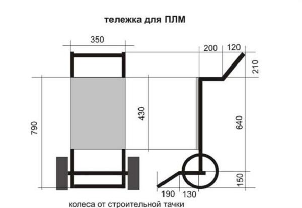 тележка для лодочного мотора фото чертежи