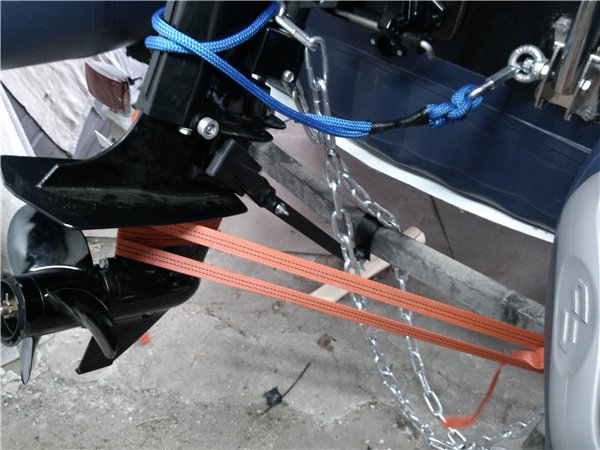 Страховка мотора на лодке
